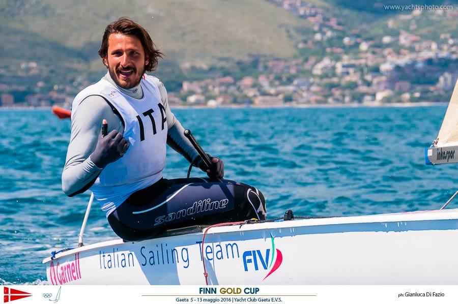 Giorgio Poggi festeggia il quinto posto. Foto Di Fazio