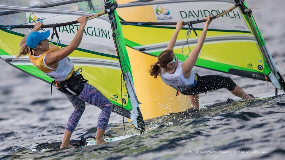 Flavia Tartaglini in regata ieri. Foto Capizzano