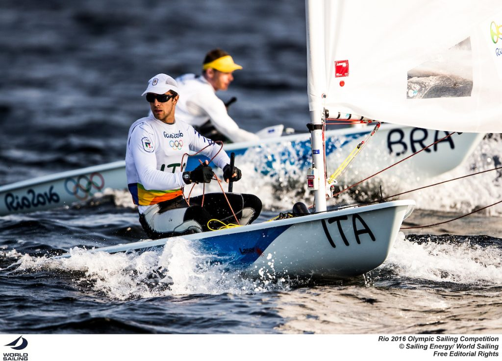 Francesco Marrai e Robert Scheidt oggi in regata. Foto Sailing Energy