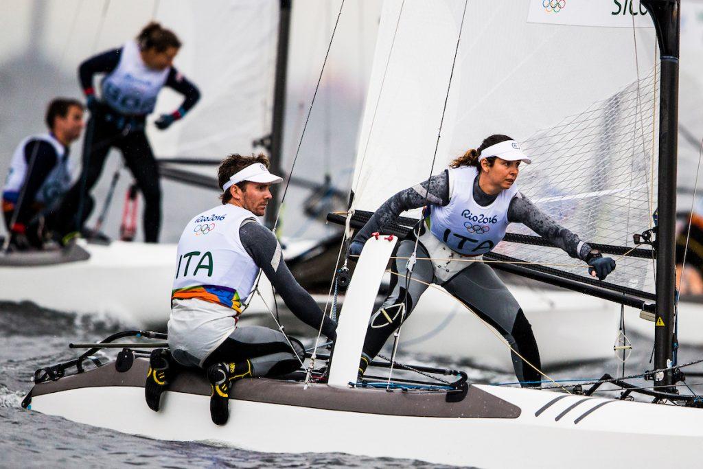 Vittorio Bissaro e Silvia Sicouri oggi in regata. Foto Sailing Energy