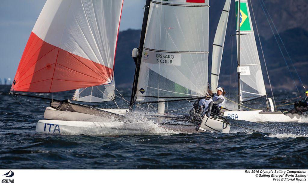 Il Nacra 17 di Vittorio Bissaro e Silvia Sicouri. Foto Sailing Energy