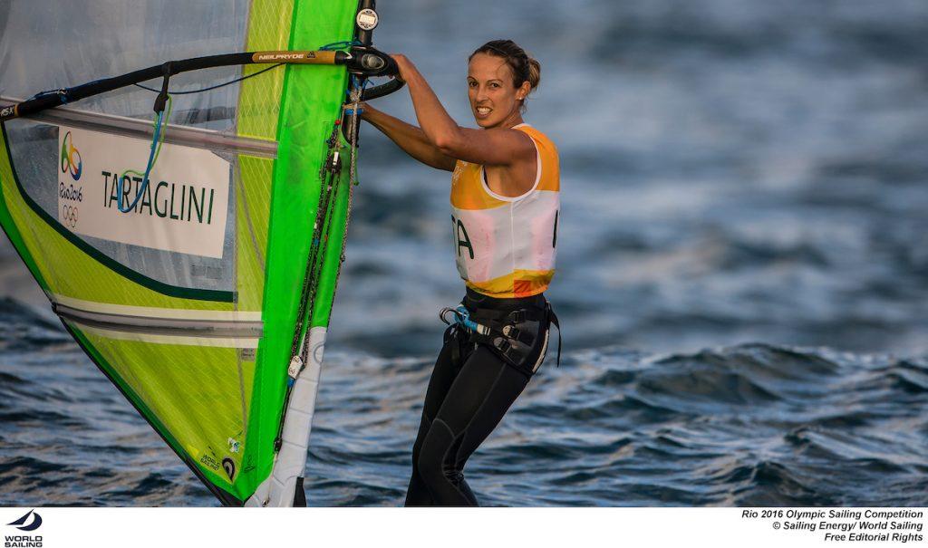 La delusione sul volto di Flavia Tartaglini all'arrivo della Medal Race. Fotol Sailing Energy