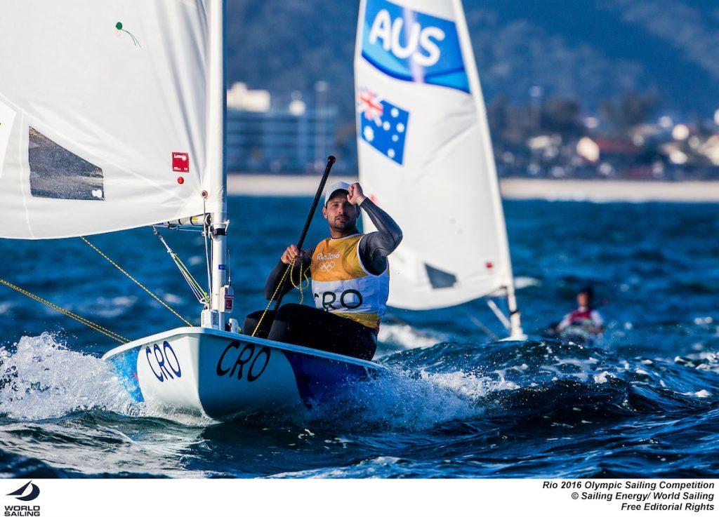 Il croato Tonci Stpanovic, già matematicamente medaglia nei Laser. Foto Sailing Energy