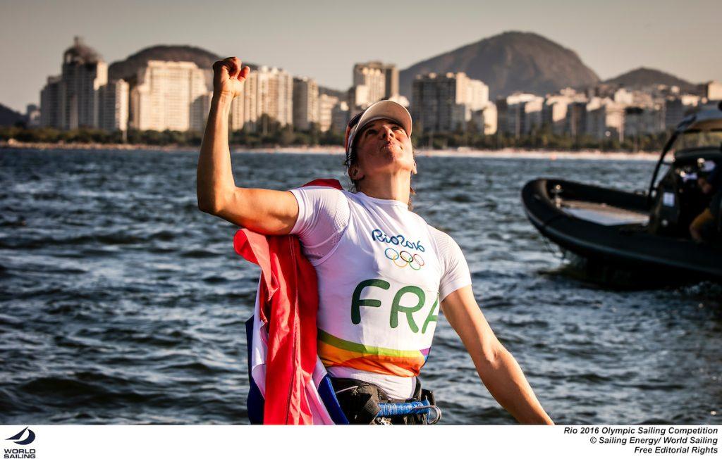 La gioia della francese Picon. Foto Sailing Energy