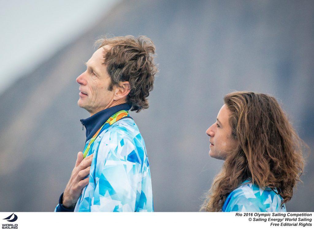 Santiago Lange e Cecilia Carranza. Photo Sailing Energy
