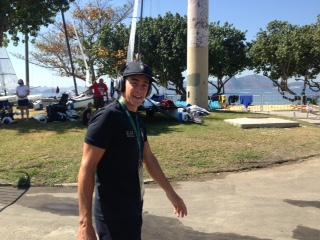 Mattia Camboni questa mattina a due ore dalla Medal Race
