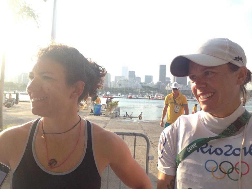 Giulia Conti e Francesca Clapcich oggi in mixed zone