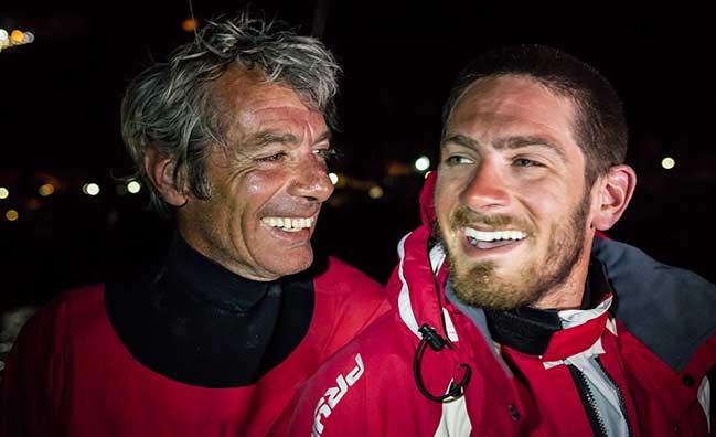 Vittorio e Nico Malingri all'arrivo