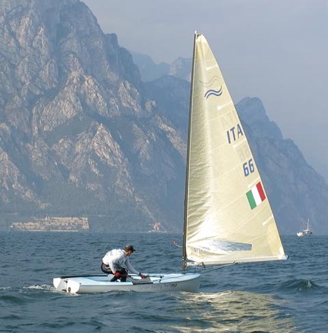 Enrico Voltolini in azione a Malcesine