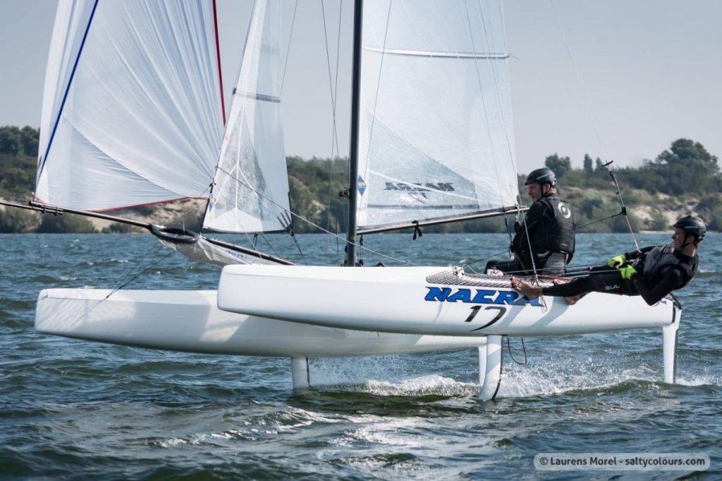 Nacra 17 in full foiling