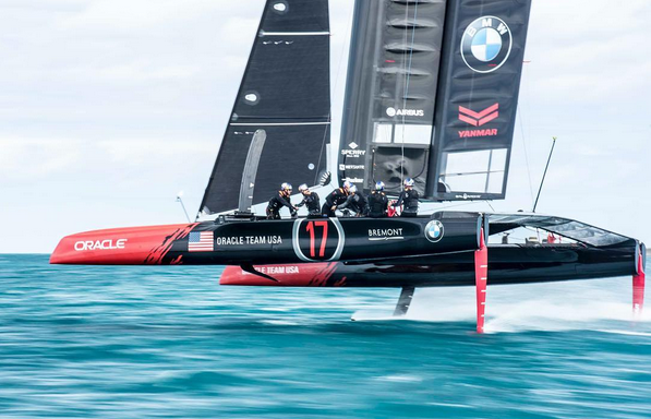 Oracle Team USA AC45T nelle test race alle Bermuda